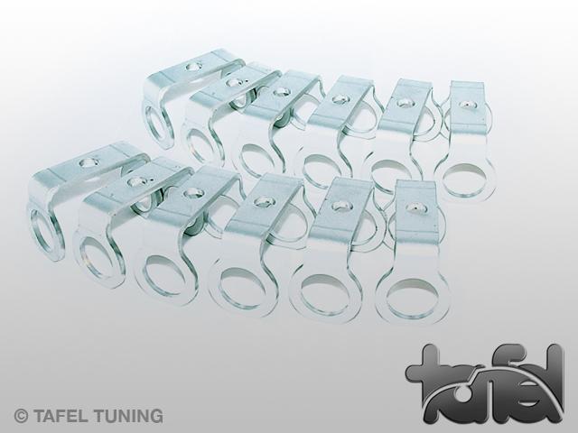 Halter für Ölkühlschlauch Aluminium 12er Satz