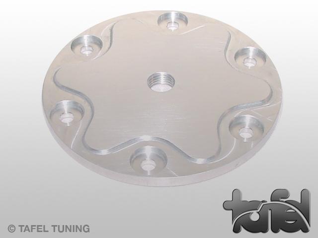 Ölsiebdeckel Typ I Alu CNC-gefräst silber eloxiert