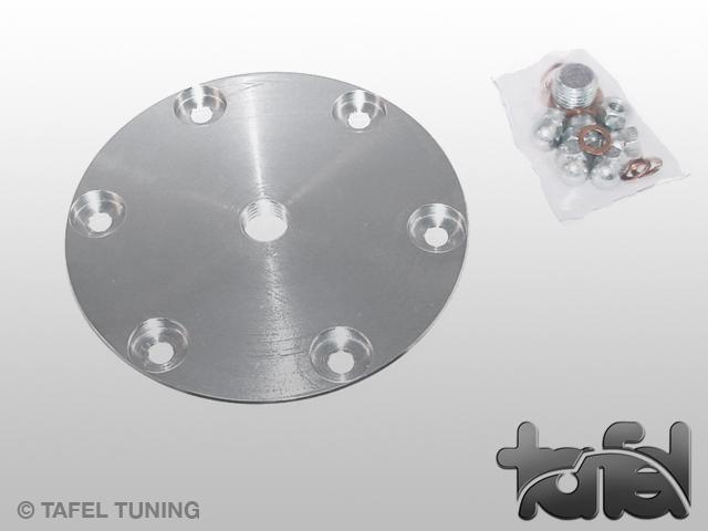 Ölsiebdeckel Typ I Stahl CNC-gefräst silber