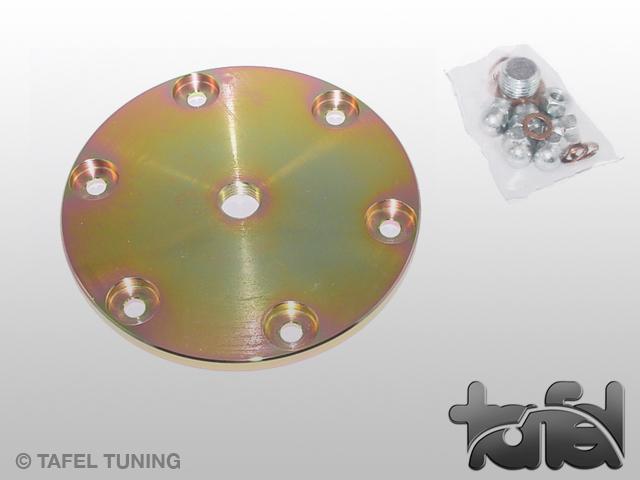 Ölsiebdeckel Typ I Stahl CNC-gefräst gelb verzinkt