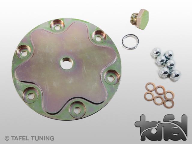Ölsiebdeckel Typ I Stahl CNC-gefräst gelb