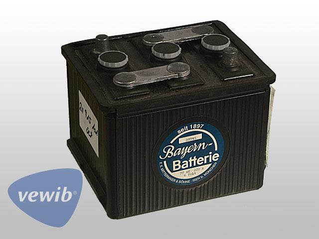 Batterie 6 V 77 AH trocken, vorgeladen