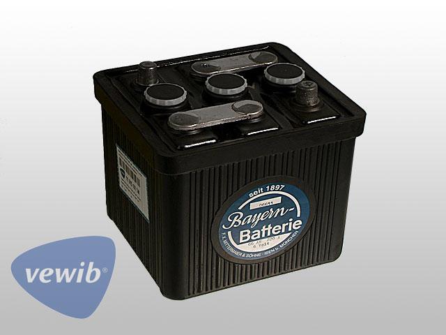 Batterie 6 Volt 66 Ah trocken, geladen