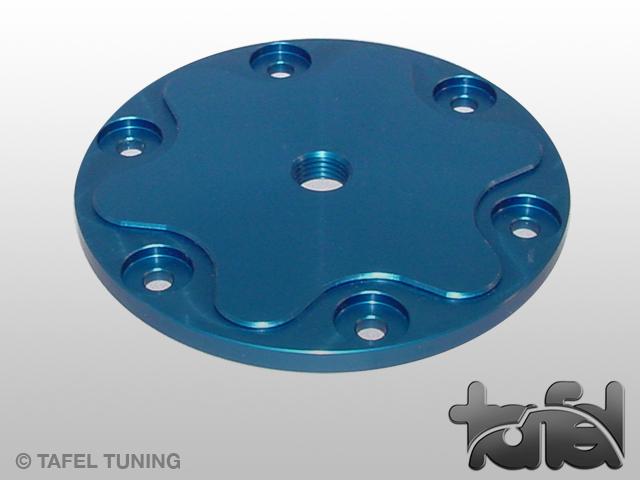 Ölsiebdeckel Typ I Alu CNC-gefräst blau eloxiert