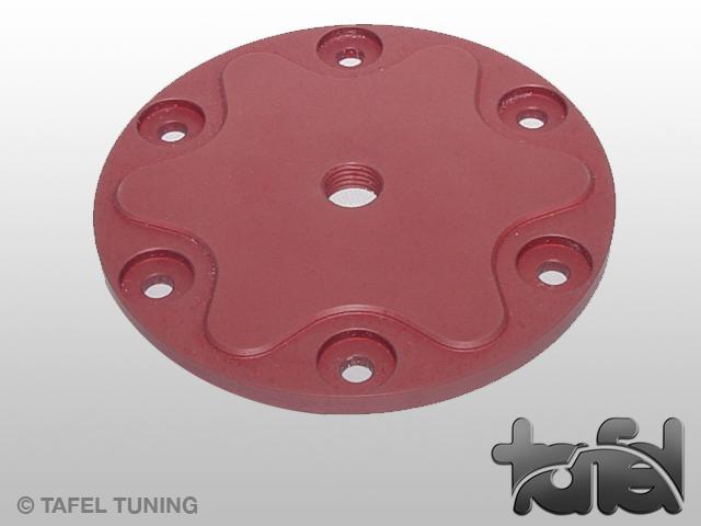 Ölsiebdeckel Typ I Alu CNC-gefräst rot eloxiert