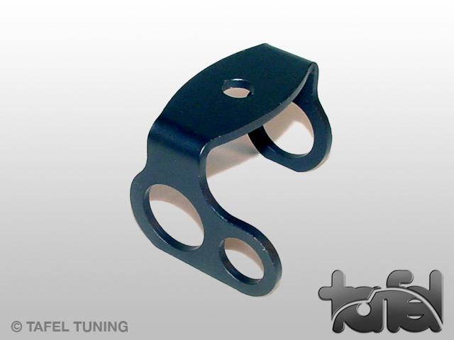 Halter für Ölkühlschlauch ALU 2-Fach schwarz elox.