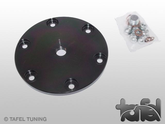 Ölsiebdeckel Typ I Stahl CNC-gefräst schwarz